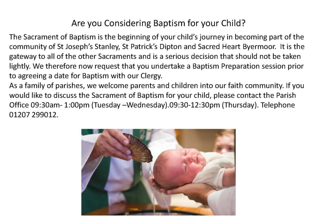 Baptism for your child